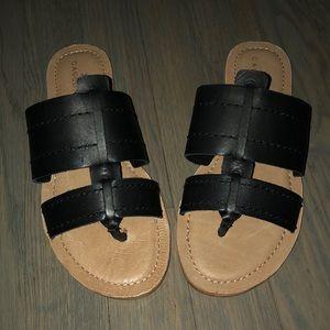 Caslon black leather sandals